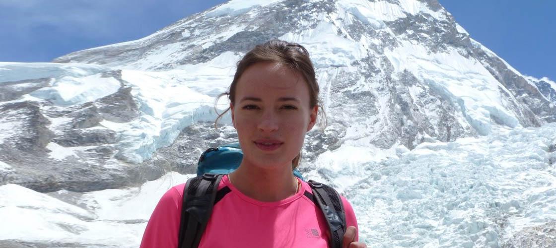 Bonita Norris stood in front of Mount Everest